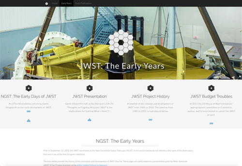 JWST: The Early Years